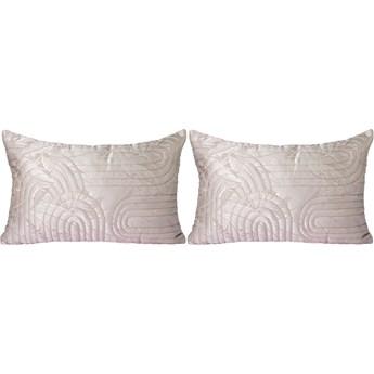 Para pikowanych poduszek nude 40x60, HKliving