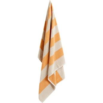 Ręcznik Frotté Stripe żółty, proj. A. Borberg, HAY