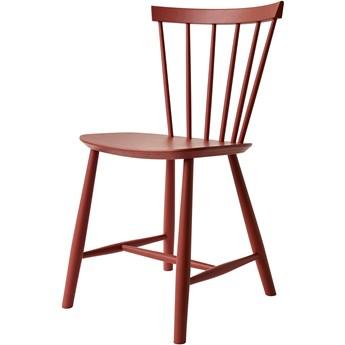 Krzesło J46 czerwone, proj. P. M. Volther, FDB Møbler