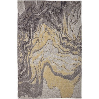 Żółto-szary bawełniany dywan 183x122 cm, Bloomingville
