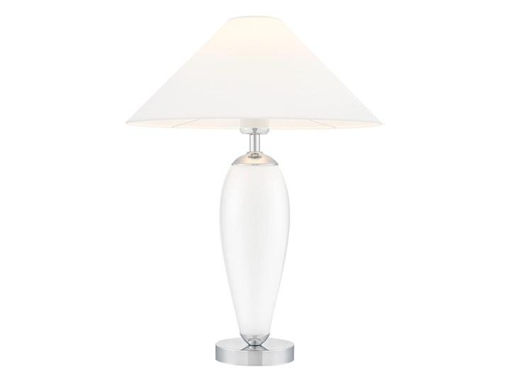 Lampa stołowa Rea chrom/biały, Kaspa Lampa LED Wysokość 60 cm Lampa z kloszem Styl Klasyczny