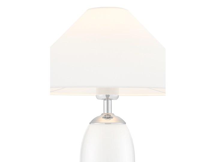 Lampa stołowa Rea chrom/biały, Kaspa Wysokość 60 cm Lampa z kloszem Lampa LED Styl Klasyczny