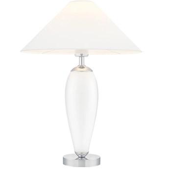 Lampa stołowa Rea chrom/biały, Kaspa