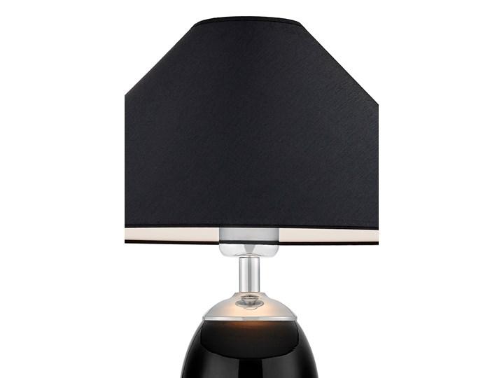 Lampa stołowa Rea chrom/czarny, Kaspa Lampa LED Lampa z kloszem Wysokość 60 cm Styl Klasyczny