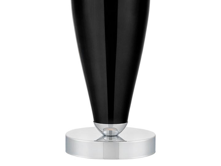 Lampa stołowa Rea chrom/czarny, Kaspa Lampa z kloszem Lampa LED Wysokość 60 cm Styl Klasyczny