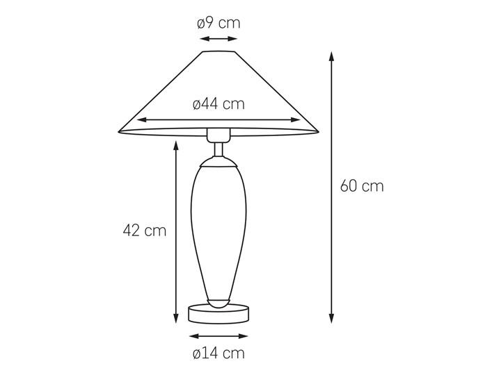 Lampa stołowa Rea chrom/czarny, Kaspa Lampa LED Wysokość 60 cm Styl Klasyczny Lampa z kloszem Kategoria Lampy stołowe