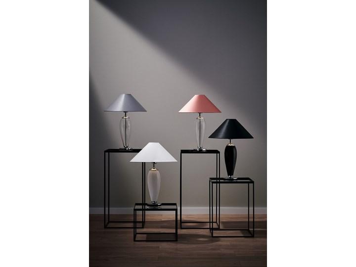 Lampa stołowa Rea chrom/czarny, Kaspa Wysokość 60 cm Lampa z kloszem Lampa LED Styl Klasyczny Kategoria Lampy stołowe