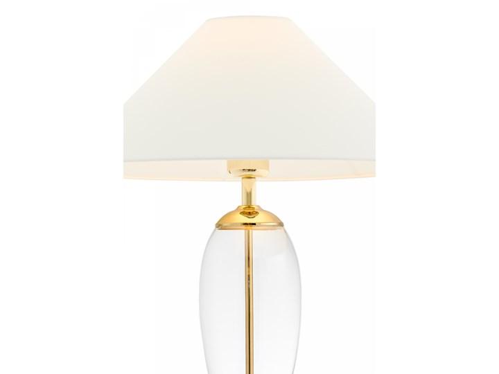 Lampa stołowa Rea złoty/transparent/biały, Kaspa Styl Klasyczny Lampa z kloszem Wysokość 60 cm Lampa LED Kategoria Lampy stołowe