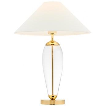 Lampa stołowa Rea złoty/transparent/biały, Kaspa