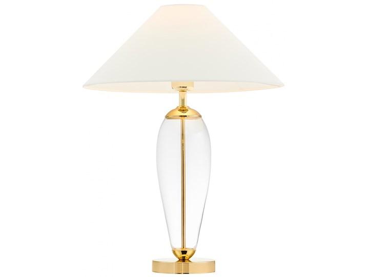 Lampa stołowa Rea złoty/transparent/biały, Kaspa Lampa z kloszem Wysokość 60 cm Lampa LED Styl Klasyczny