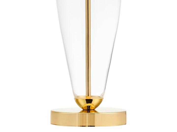 Lampa stołowa Rea złoty/transparent/biały, Kaspa Styl Klasyczny Lampa LED Lampa z kloszem Wysokość 60 cm Kategoria Lampy stołowe