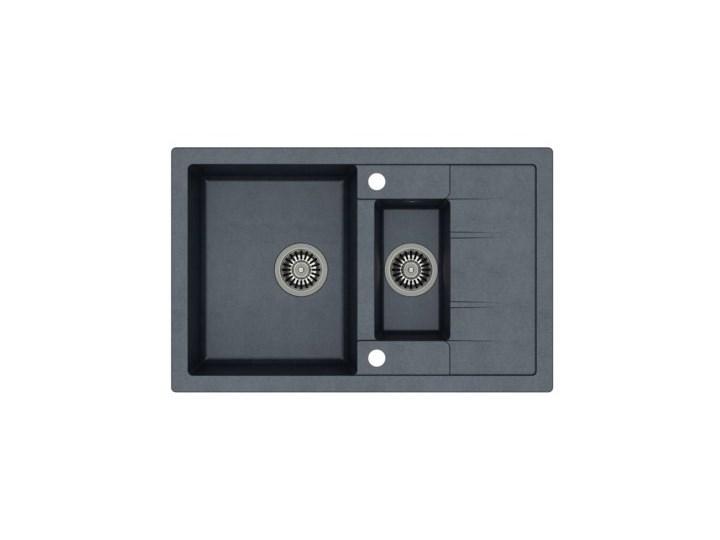 Zlewozmywak QUADRON Morgan 156 HB8224U8-BS Stalowy/Czarny metalik Granit Kolor Srebrny Ociekacz Ociekacz bez odpływu
