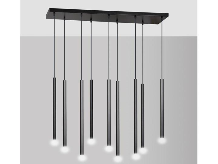 SELTER 9 BLACK 552/9 designerski spot wiszący halogen punktowy tuby czarne długie