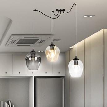 LEVEL 3 BL MIX lampa wisząca klosze szklane kule regulowana nowoczesna