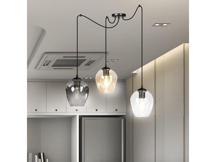 LEVEL 3 BL MIX lampa wisząca klosze szklane kule regulowana nowoczesna Lampa LED Metal Lampa z kloszem Szkło Styl Klasyczny