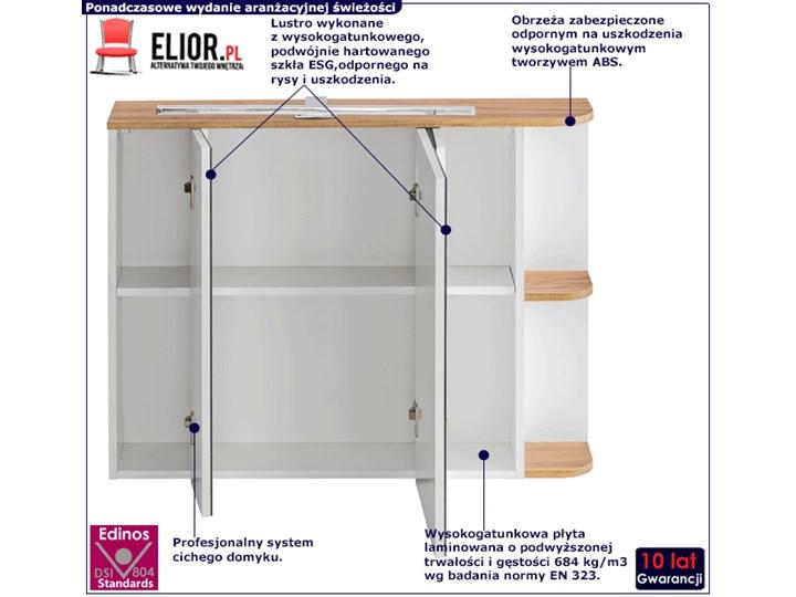 Wisząca szafka łazienkowa z lustrzanym frontem - Sewilla 4X Szerokość 94 cm Szafki Głębokość 20 cm Kategoria Szafki stojące Wiszące Wysokość 72 cm Kolor Beżowy