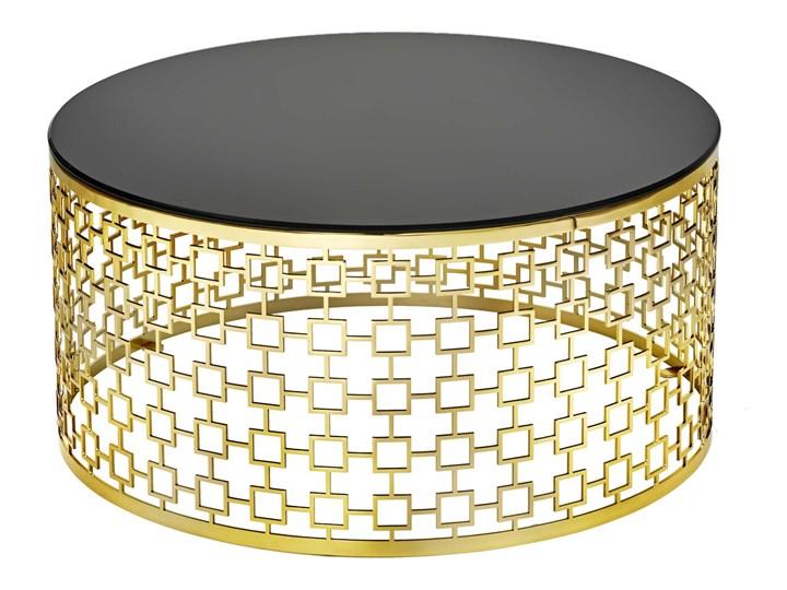 Brass 800 S Metal Stolik Stal Szkło Wysokość 37 cm Zestaw stolików Kategoria Stoliki i ławy