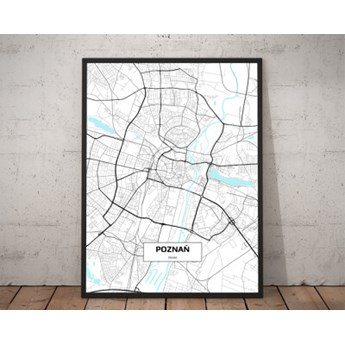 Plakat - Mapa Poznania 70 x 100 cm