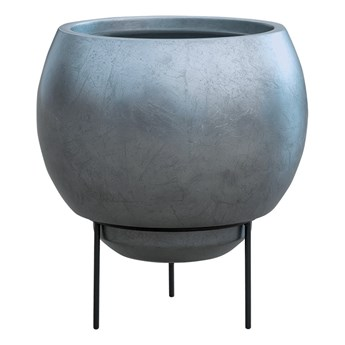 Donica Metallic Matt Silver Blue Na Nóżkach