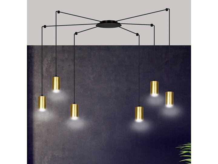 TRAKER 6 BL / GOLD 526/6 SPOT halogen punktowy dużo światła oryginalny DESIGN czarno złoty Metal Lampa z kloszem Lampa LED Kategoria Lampy wiszące