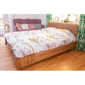 Beriet łóżko z drewna bukowego lewitujące 140x200 cm, wybarwienie orzech (OR)
