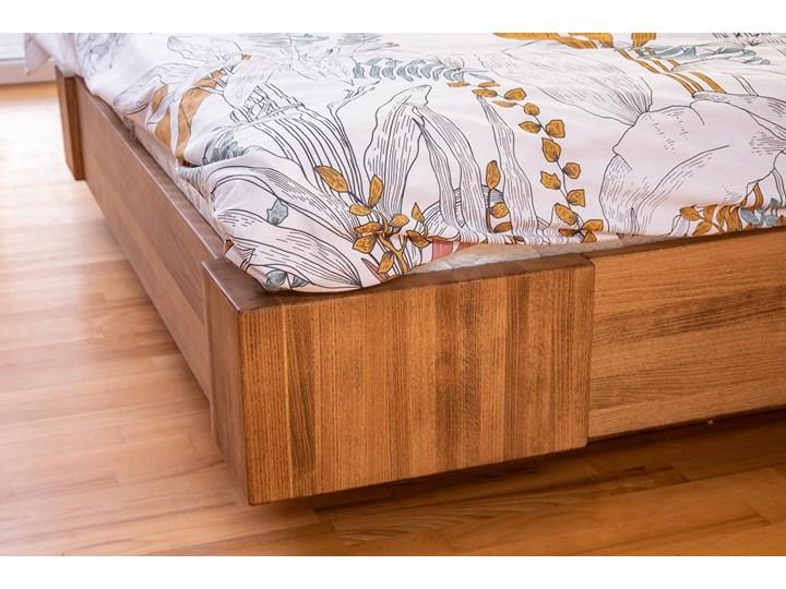 Beriet łóżko z drewna bukowego lewitujące 140x200 cm, wybarwienie orzech (OR) Łóżko drewniane Kategoria Łóżka do sypialni