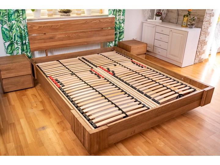 Beriet łóżko z drewna bukowego lewitujące 140x200 cm, wybarwienie orzech (OR) Pojemnik na pościel Z pojemnikiem Łóżko drewniane Kategoria Łóżka do sypialni