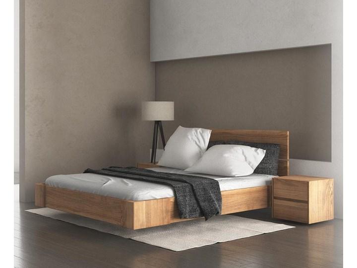 Beriet łóżko z drewna bukowego lewitujące 140x200 cm, wybarwienie orzech (OR) Łóżko drewniane Kategoria Łóżka do sypialni Pojemnik na pościel Z pojemnikiem