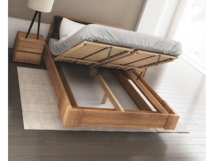 Beriet łóżko z drewna bukowego lewitujące 140x200 cm, wybarwienie orzech (OR) Rozmiar materaca 140x210 cm Łóżko drewniane Kategoria Łóżka do sypialni