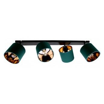 Lampa Sufitowa Złota Żyrandol Plafon z Abażurami