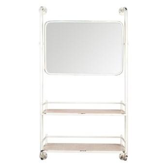 Półka wisząca z lustrem Dutchbone Barber biała
