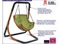 Zielony fotel wiszący huśtawka - Pasos 2X Wiszące Kategoria Fotele ogrodowe
