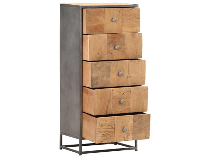 vidaXL Komoda, 45x30x100 cm, lite drewno z odzysku Szerokość 105 cm Głębokość 30 cm Kolor Beżowy Szerokość 45 cm Kategoria Komody