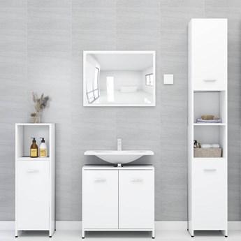 vidaXL Zestaw mebli łazienkowych, biały, płyta wiórowa