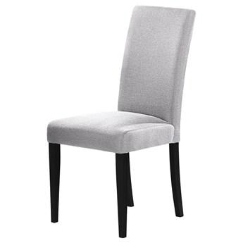 SELSEY Zestaw dwóch krzeseł tapicerowanych Aterin szare na czarnej podstawie