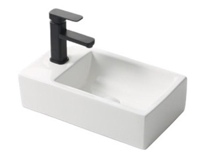 VELDMAN UMYWALKA PODWIESZANA CERAMICZNA ROXY Nablatowe Podwieszane Ceramika Kategoria Umywalki Szerokość 46 cm Prostokątne Kolor Biały