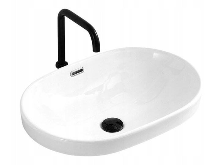 VELDMAN UMYWALKA WPUSZCZANA W BLAT VERA Wpuszczane Owalne Ceramika Szerokość 60 cm Kategoria Umywalki