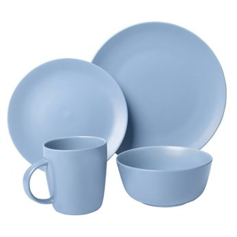 Zestaw obiadowy 16el. Pop Blue niebieski kod: THK-072358