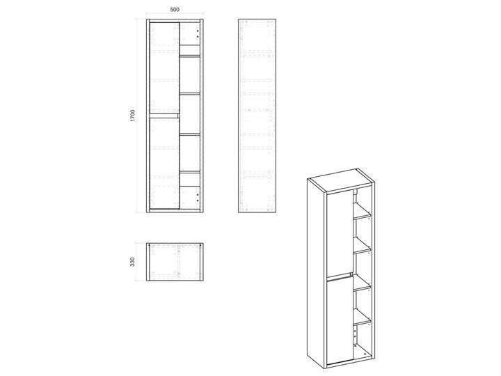 Słupek łazienkowy z odkrytymi półkami - Ralfo 2X Wysokość 170 cm Wiszące Szerokość 50 cm Głębokość 33 cm Kategoria Szafki stojące