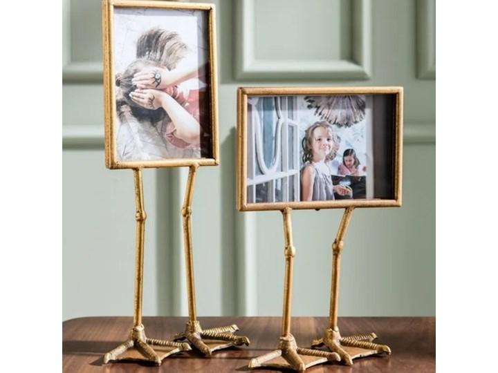 Ramka Duck Feet pozioma 19x38 cm złota Kolor Szary Ramka na zdjęcia Kategoria Ramy i ramki na zdjęcia