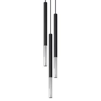 Lampa wisząca punktowa MOZAICA 3P czarny/chrom oprawa na sufit SOLLUX