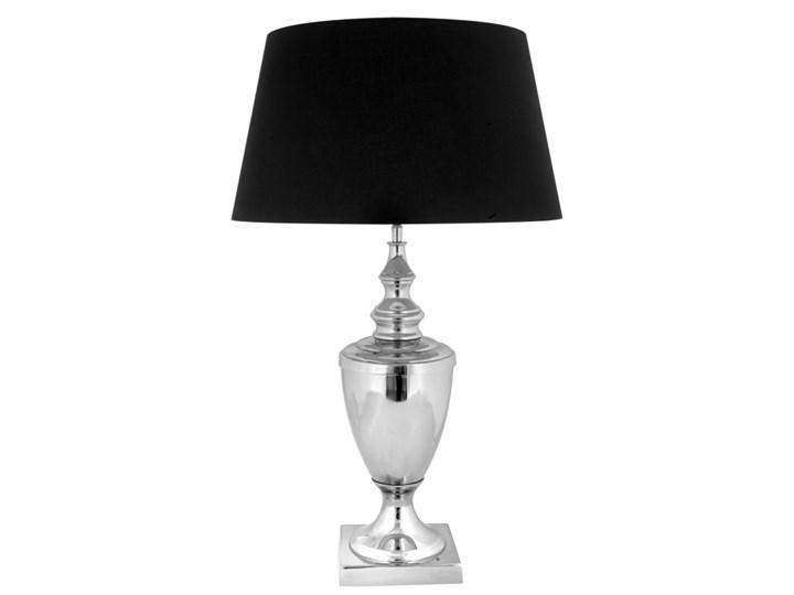 Srebrna lampa na komodę w stylu glamour LUKKA Lampa z abażurem Styl Klasyczny Kategoria Lampy stołowe