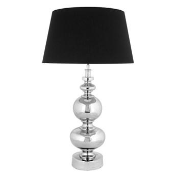Srebrna lampa  na komodę w stylu glamour LUGO