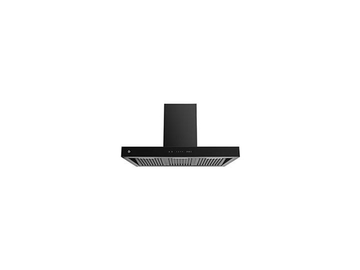 T-shape Czarny Pochłaniacz z filtrem węglowym Kategoria Okapy
