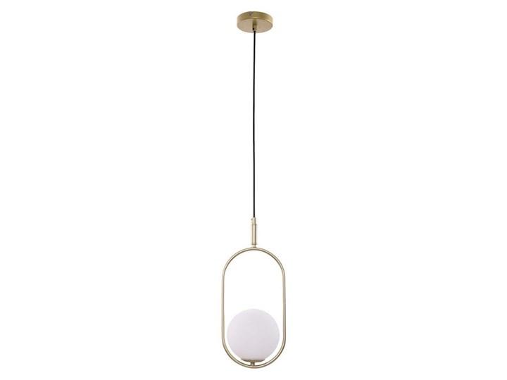 Żyrandol na lince CORDEL 1xG9/28W/230V Lampa z kloszem Metal Mosiądz Kolor Biały Szkło Styl Industrialny