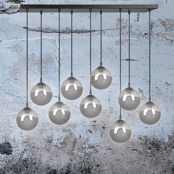 COSMO 9 BL GRAFIT lampa wisząca klosze szklane kule regulowana nowoczesna