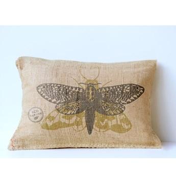 Poduszka z juty Surdic Moth, 50x35 cm