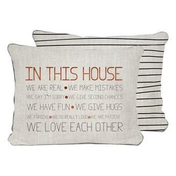 Beżowa poduszka Really Nice Things House, 50x35 cm