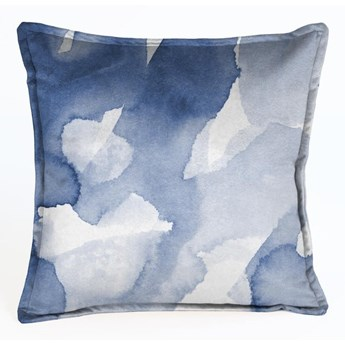 Niebieska aksamitna poduszka Velvet Atelier Abstract, 45x45 cm