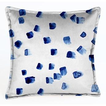 Niebiesko-szara aksamitna poduszka Velvet Atelier Mallorca, 45x45 cm